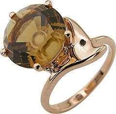 Кольцо. Цитрин. Арт.018Ц из золота 585 пробы
