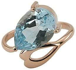 Кольцо. Голубой топаз. Арт.056Т из золота 585 пробы
