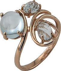 Кольцо. Голубой топаз. Арт.063Т из золота 585 пробы