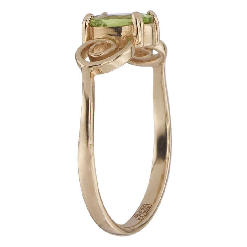Кольцо. Хризолит. Арт.073Х из золота 585 пробы