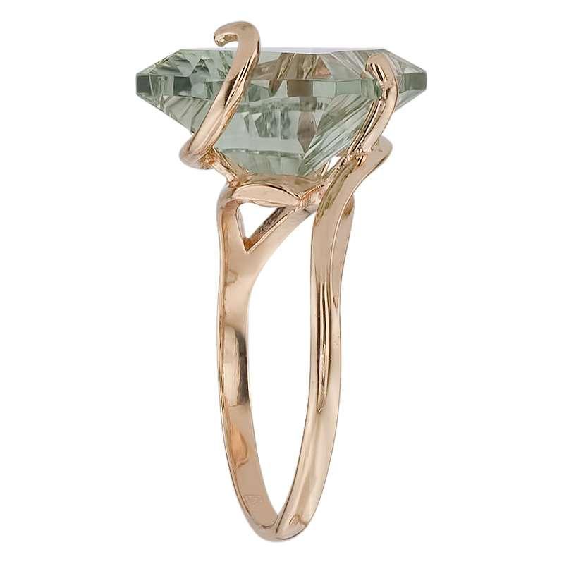 Кольцо. Аметист зеленый. Арт.1014Аз из золота 585 пробы