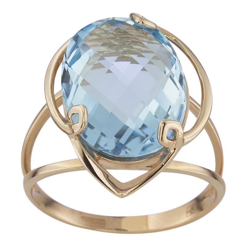 Кольцо. Голубой топаз. Арт.1330Т из золота 585 пробы
