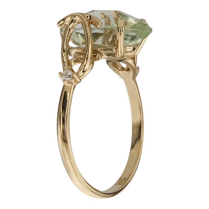 Кольцо. Аметист зеленый. Арт.139АзКц из золота 585 пробы