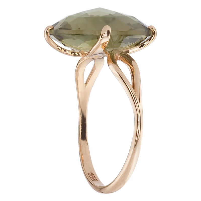 Кольцо. Аметист зеленый. Арт.1427Аз из золота 585 пробы