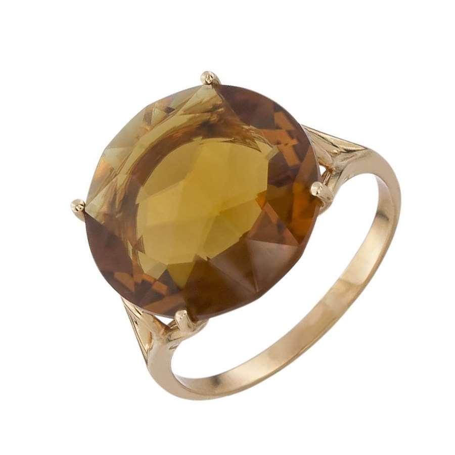 Кольцо. Цитрин. Арт.1471Ц из золота 585 пробы
