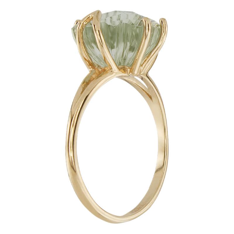 Кольцо. Аметист зеленый. Арт.1495Аз из золота 585 пробы