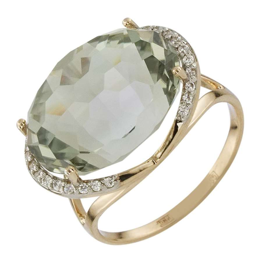 золотое кольцо с камнями цена
