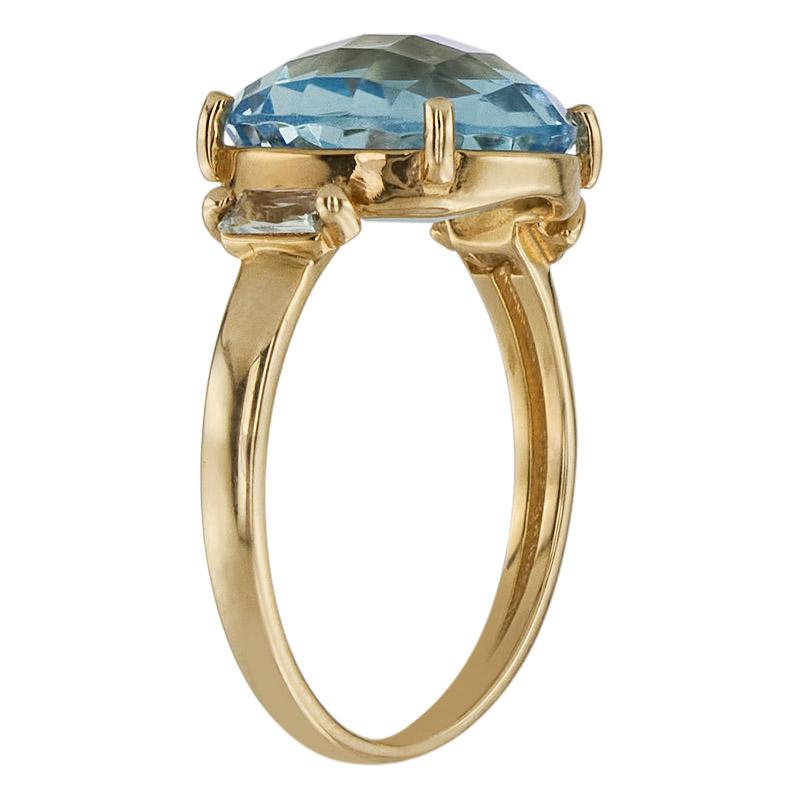 Кольцо. Голубой топаз. Арт.155Т из золота 585 пробы
