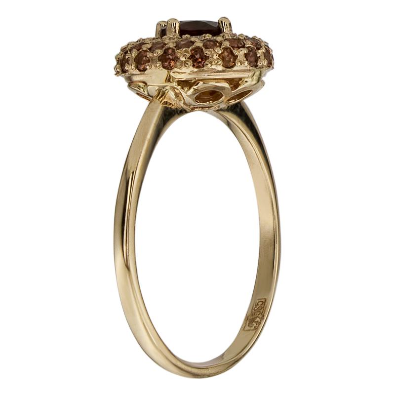 Кольцо. Фианит. Арт.1611ГКц из золота 585 пробы