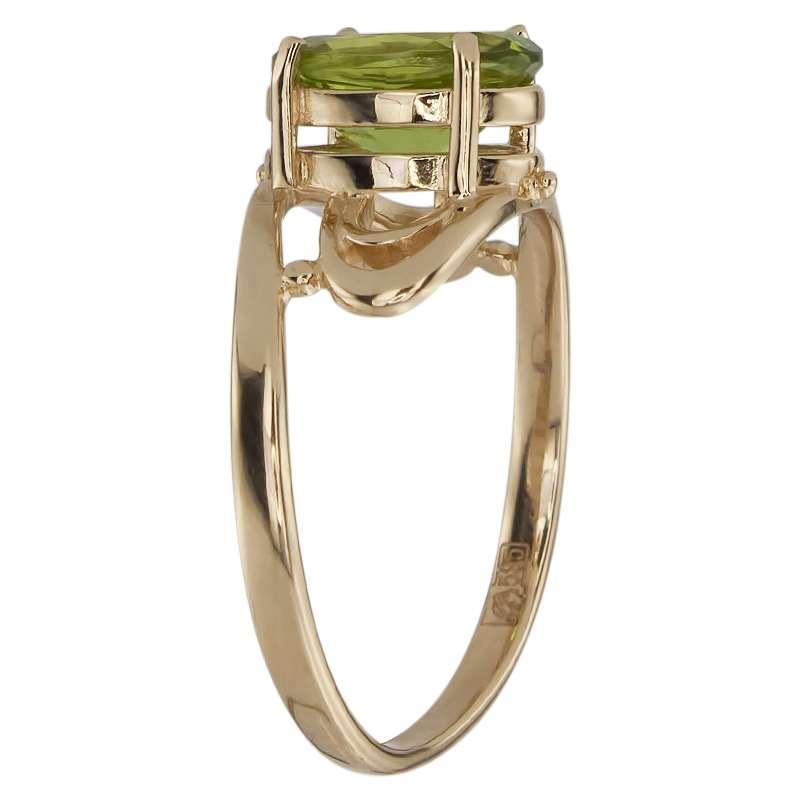 Кольцо. Хризолит. Арт.181Х из золота 585 пробы