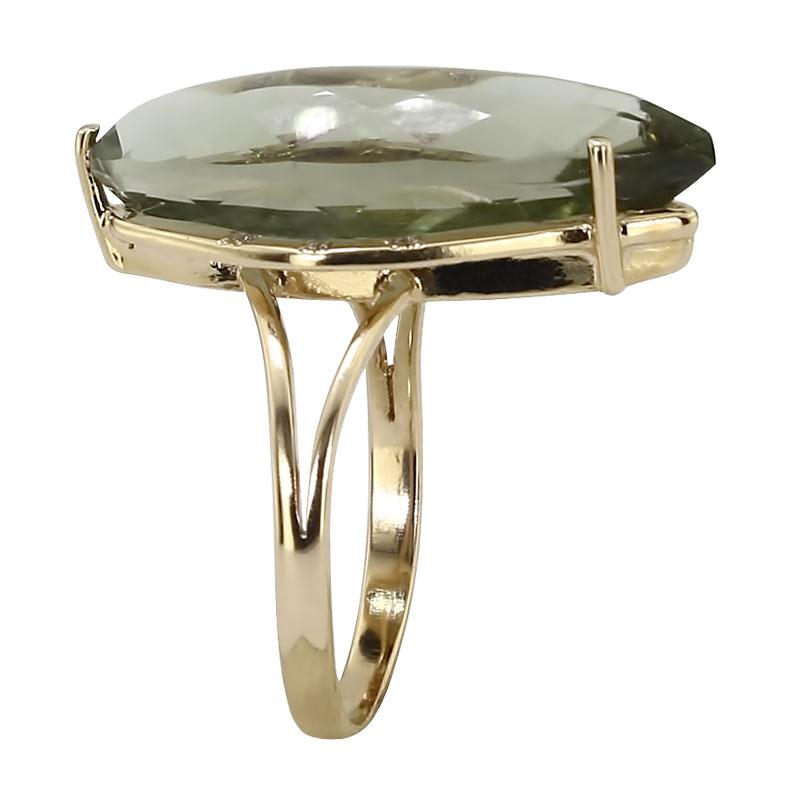 Кольцо. Аметист зеленый. Арт.265АзКц из золота 585 пробы