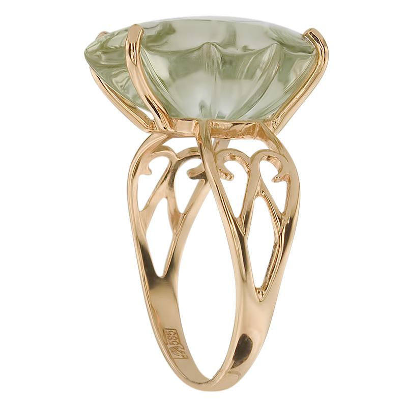 Кольцо. Аметист зеленый. Арт.305Аз из золота 585 пробы