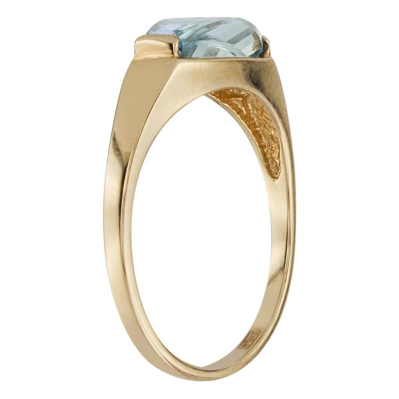 Кольцо. Голубой топаз. Арт.474Т из золота 585 пробы