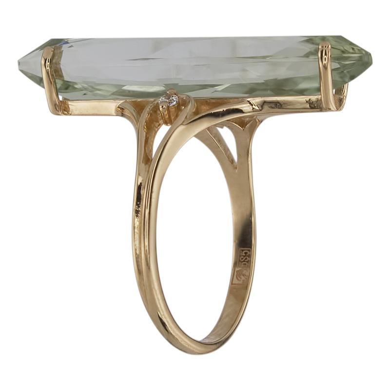 Кольцо. Аметист зеленый. Арт.486АзКц из золота 585 пробы
