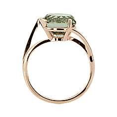 Кольцо. Аметист зеленый. Арт.561Аз из золота 585 пробы
