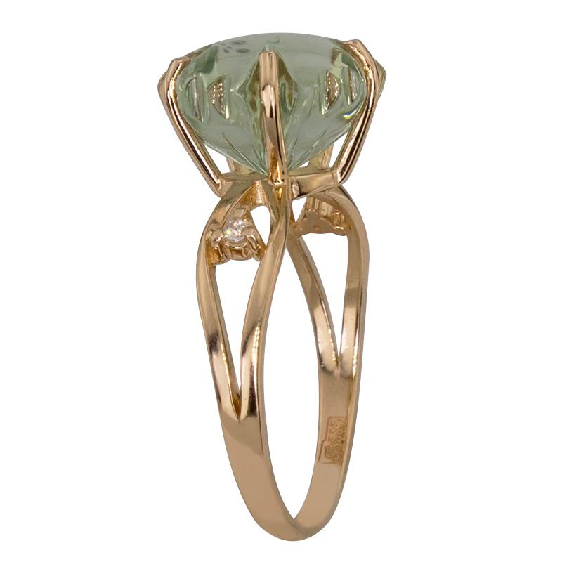 Кольцо. Аметист зеленый. Арт.651АзКц из золота 585 пробы