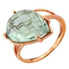 Кольцо. Аметист зеленый. Арт.927Аз из золота 585 пробы